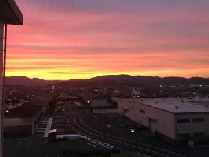 Sunset from balconey